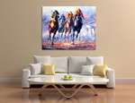 Horse Race on the wall