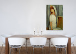 Jeanne Hebuterne Left Arm Behind Head on the wall