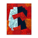Random Shapes Number One | Oil Painting on Canvas Art