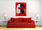 Random Shapes Number One | Oil Painting on Canvas Art on the wall