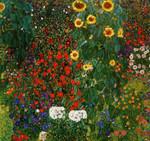 Klimt   Farm Garden with Sunflower