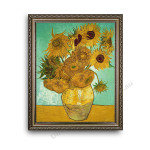 The Sunflower Ornate Silver Frame