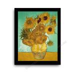 The Sunflower Modern flat black frame