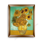 The Sunflower Modern Flat Gold Frame