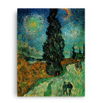 Vincent Van Gogh | Road with Cypress and Star