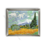 Wheatfield with Cypresses Modern Flat Silver