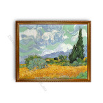 Wheatfield with Cypresses Gold A1 Frame