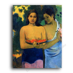 Two Tahitian Women with Mango Blossoms