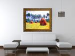 Haystacks at Giverny on the wall