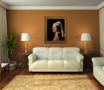 Girl with a Pearl Earring on the wall