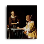 Jan Vermeer   Lady with Her Maidservant Holding a Letter