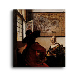 Jan Vermeer   Officer With a Laughing Girl