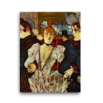 Henri de Toulouse-Lautrec | La Goulue Arriving at the Moulin Rouge with Two Women