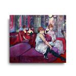 Henri de Toulouse-Lautrec   The Salon in the Rue des Moulins