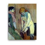 Henri de Toulouse-Lautrec | Woman Pulling up Her Stocking