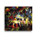 August Macke | Landscape with Cows and Camel