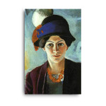 August Macke   Portrait of the Artist's Wife Elisabeth with a Hat