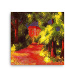 August Macke | Red House in a Park