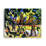 August Macke | Riders and Strollers in the Avenue