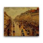 Camille Pissarro | Boulevard Montmartre Afternoon in the Rain