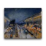 Camille Pissarro   Boulverd Monmartre Night Effect