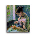 Camille Pissarro | Peasant Girl Drinking her Coffee