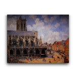 Camille Pissarro | The Church of St. Jacques at Dieppe Morning Sun