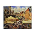 Camille Pissarro   The Fair at Dieppe, Sunny Morning