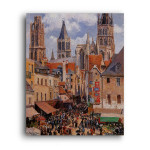 Camille Pissarro   The Old Market and the Rue de l'Epicerie in Rouen