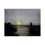 J.W.Turner | Moonlight, a Study at Millbank