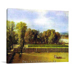 Jaques Louis David | View of the Garden of the Luxembourg Palace
