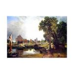 John Constable   Dedham Lock and Mill