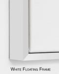 White Floating Frame