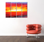 Horizon of Fire and Gold on the wall