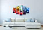 Celestial Coasters on the wall