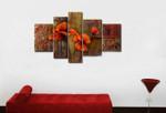 Crimson on the wall