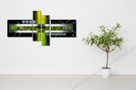 Green Techno on the wall