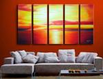 Crimson Horizon on the wall