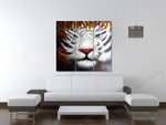 White Bengal Tiger on the wall