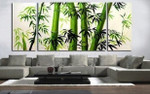 Bamboo on the wall