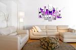 Butterflies in Purple on the wall