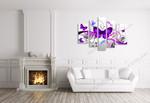 Purple Butterflies on the wall