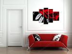 Crimson Rose on the wall