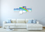 Rainbow and the Sky on the wall