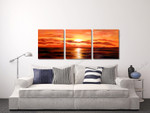Flaming Horizon on the wall