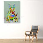 Modern Rabbits on the wall