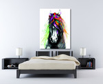 Colorful Horse on the wall