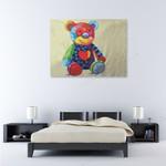 Teddy on the wall