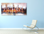 Bright City on the wall