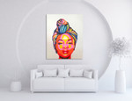 African Woman on the wall
